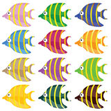 Sweet and funny fish color vector illustrtion Royalty Free Stock Photo