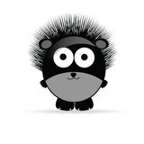 Sweet and funny hedgehog animal vector illustrtion Royalty Free Stock Images