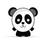 Sweet and funny panda animal vector illustrtion Stock Image