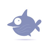 Sweet and funny shark vector illustration Stock Photo