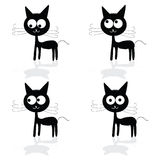 Sweet and fuuny cat vector illustartion Royalty Free Stock Photography
