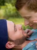 Sweet Gay Couple Royalty Free Stock Photography