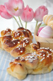 Sweet German Easter Bread Royalty Free Stock Photography