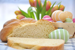 Sweet German Easter Bread Royalty Free Stock Photos