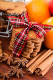 Sweet gift, heap of cookies Stock Images