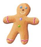 Sweet Gingerbread Man. Hand made acrylic illustration of the sweet Gingerbread Man stock illustration