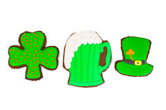 Sweet Gingerbread for St. Patricks Day Stock Photo