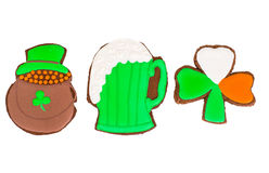 Sweet Gingerbread for St. Patricks Day Royalty Free Stock Photos