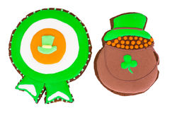 Sweet Gingerbread for St. Patricks Day Royalty Free Stock Image