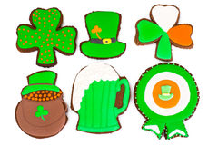Sweet Gingerbread for St. Patricks Day Stock Photography