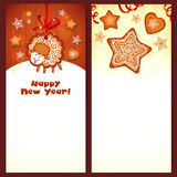 Sweet gingerbread vector Christmas banners Royalty Free Stock Photos