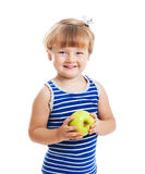 Sweet girl with an apple Royalty Free Stock Photography