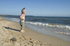 Sweet girl on the beach Stock Photos