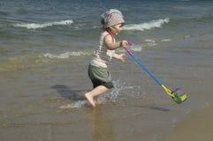 Sweet girl on the beach Royalty Free Stock Photos