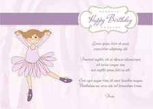 Sweet Girl Birthday Greeting Card Stock Images