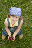 Sweet girl with cherry Stock Photography