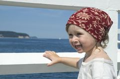Sweet girl on a dock Royalty Free Stock Photo