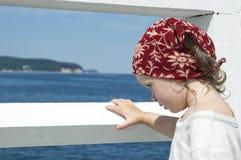 Sweet girl on a dock Stock Photo