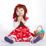 Sweet girl with easter eggs Royalty Free Stock Photos