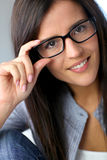 Sweet girl with eyewear Royalty Free Stock Photo