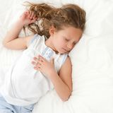 Sweet girl fast asleep. Royalty Free Stock Photos