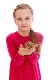 Sweet girl with a hamster Stock Photo