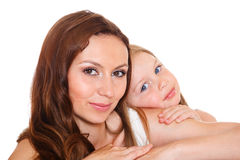 Sweet girl and her mother Royalty Free Stock Images