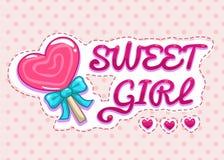 Sweet girl illustration Stock Image