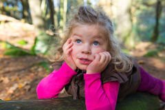 Sweet girl in nature Royalty Free Stock Photos