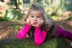 Sweet girl in nature Royalty Free Stock Photography