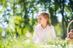Sweet girl in park Stock Photography