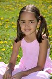 Sweet Girl with pigtails Royalty Free Stock Images