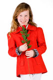 Sweet girl with a rose Stock Photo