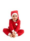Sweet girl in santa wear Stock Photos