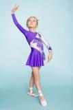 Sweet girl seven years dancing Stock Image