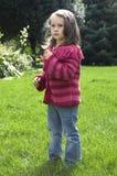 Sweet girl. summer scenic. stock images