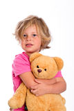 Sweet girl with teddy Royalty Free Stock Images