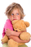 Sweet girl with teddy Stock Image