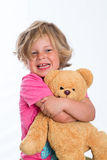 Sweet girl with teddy Royalty Free Stock Photography
