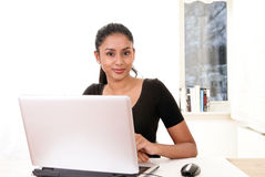 Sweet girl at work Stock Images