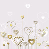 Sweet gold hearts Royalty Free Stock Image