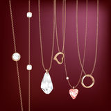 Sweet golden jewellery gifts Stock Photography