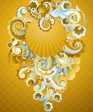 Sweet golden swirls. Royalty Free Stock Images