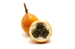 Sweet granadilla. On a white background Royalty Free Stock Images