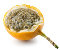 Sweet granadilla or grenadia isolated on the white background Royalty Free Stock Images