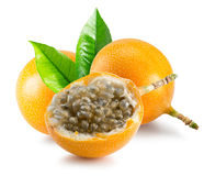 Sweet granadilla or grenadia isolated on the white background Royalty Free Stock Image
