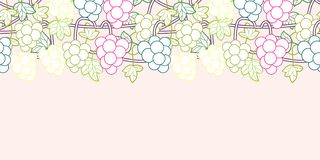 Sweet grape vines seamless pattern background vector stock illustration