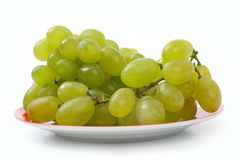 Sweet grapes on a plate Stock Images