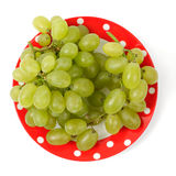 Sweet grapes on a plate Stock Photos