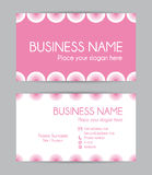 Sweet graphic business card design. Front and back. Stock Photo